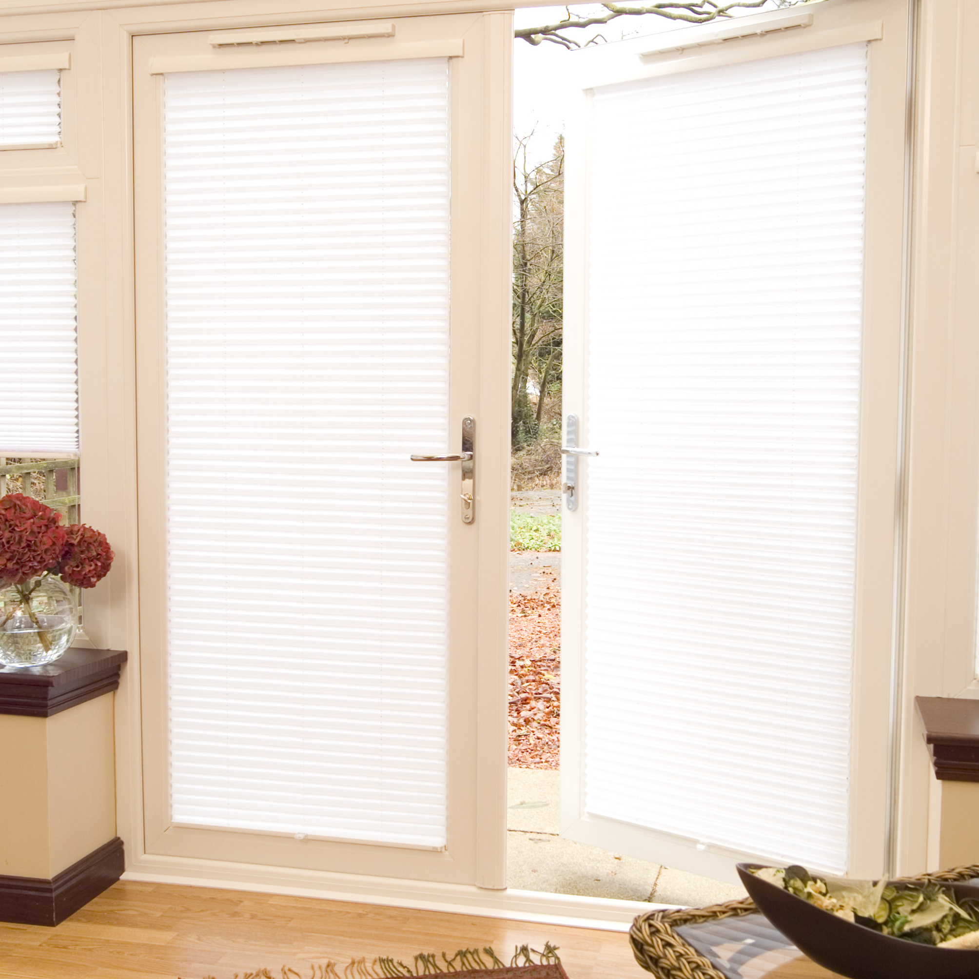 Pleated Blinds - Open Door